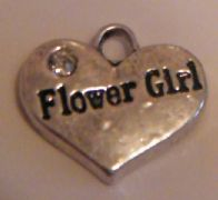 Flower Girl Earrings - Drop Charm Style